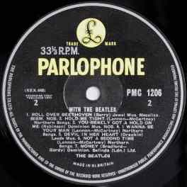 Label for The Beatles' With The Beatles vinyl LP (side 2)